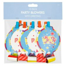 Pack 10 Childrens Birthday Party Blowers Boys Party