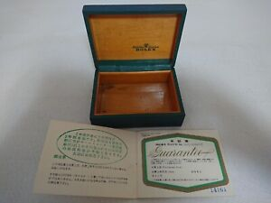 Vintage 1960's Rolex Coffin Box 1603 Ref 67.00.3 Certificate Guarantee 696034