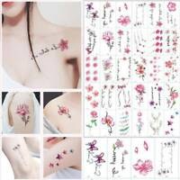 30 Sheets Temporary Tattoo Stickers Letters Feather Body Art Tattoos Waterproof