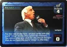 Wwe Raw Deal Ccg Été Slam 6.0 Wooooooooo Aluminium Ric Flair Ultra Rare
