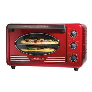 Nostalgia Toaster Oven Two 12-in. Pizzas Built in Timer Adjustable Thermostat