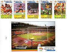 Uganda 1991 Summer Olympic, Barcelona 1992, MNH, perf. Y #1