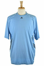 Adidas Men Tops T-Shirts XL Blue Polyester