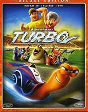 Turbo Deluxe Edition (Blu-Ray 3D + Blu-Ray + DVD) Dreamworks NUOVO
