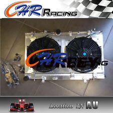52mm Aluminum Radiator + Shroud + Fans for Subaru WRX STI GD GDA GDB 2001-2007