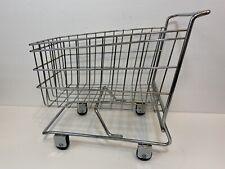 Mini Chrome Shopping cart basket Metal Home Decor Decoration