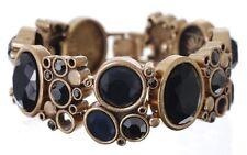£100 Baroque Gothic Gold Black Statement Bracelet Swarovski Elements Crystal