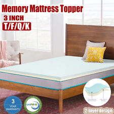 3INCH COMFORT SELECT MEMORY FOAM MATTRESS PAD BED TOPPER ALL SIZE 2 LAYER DESIGN