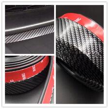 Universal 2.5M Carbon Fiber Effect Car Front Chin Spoiler Splitter Rubber Lip US