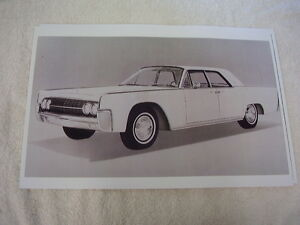 1962 LINCOLN CONTINENTAL SEDAN   11 X 17  PHOTO  PICTURE