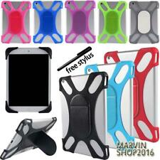 Tablet Shockproof Soft Silicone Bumper Stand Cover Case For KURIO 7 7s 10 + Pen
