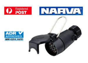 NARVA Trailer Connector 7 Pin Large Round Plastic Socket 82054BL
