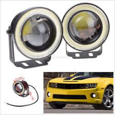 Pair 2.5''Car High Power Projector LED Fog Light White COB Halo Angel Eye Rings
