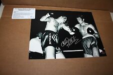 CHUCK WEPNER SIGNED B/W  8X10 PHOTO BAYONNE BLEEDER RARE AUTO LEAF CERTIFIED