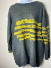 United Colors Of Benetton Women's Green Mohair Oversized Sweater Size Large