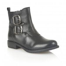Ladies Lotus Jodie Black Leather Ankle Boots - EU 38