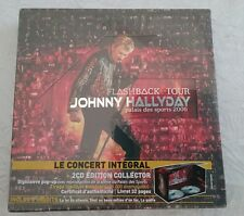 COFFRET BOX SET 2X CD JOHNNY HALLYDAY FLASHBACK TOUR 2006 EDITION COLLECTOR RARE