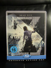 World War Z [Germany] Exclusive Blu-Ray Steelbook Region Free Open Mint Debossed