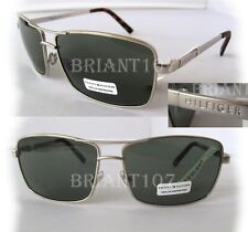 New TOMMY HILFIGER Mens Sunglasses Brody MMOM308 Silver/Green $60