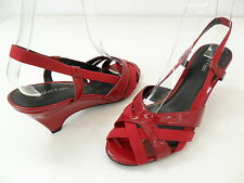 Calvin Klein E8215 Marielle Wedge Heel Ladies Shoes Red Patent Size 7m
