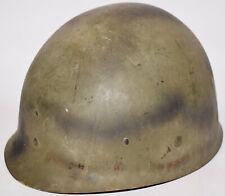 Original WWII US Military IMP M1 helmet liner w/ Black Spray Paint Camo