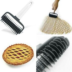Cookie Pie Lattice' Roller Pizza Bread Dough Pastry Cutter Kitchen Baking Tool