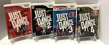 Wii Just Dance Game Bundle - Just Dance 1 2 3 4 - Complete - Tested Working