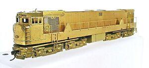 UNION PACIFIC BRASS GE U50 CAB FORWARD DIESEL LOCOMOTIVE-POWERED-HO SCALE-DC