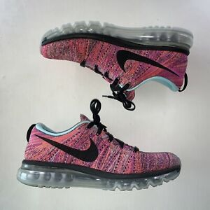 Women's Nike Flyknit Air Max 360 620659-009 Sneaker Shoes Pink Size 10.5 Rare