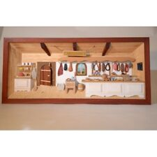German 3D Wooden Shadow Box Picture Diorama Butchery Butcher Shop Metzger