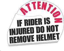 Shoei  Bell Star & AGV DO NOT REMOVE HELMET Decals MOTORBIKE Safety Sticker