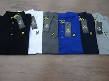 LYLE AND SCOTT MENS SHORT SLEEVE POLO SMALL , MEDIUM, LARGE, X LARGE ALL COLOURS