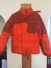 Orange Marmot Byrneside Men's medium jacket puffer hoodie 700 fill nwt srp $349