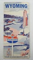 STANDARD OIL CO. 1965 WYOMING STATE ROAD  MAP