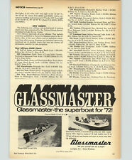 1972 PAPER AD Glassmaster Charger 400XP Playmate 600XD Motor Boat Tri-Hull