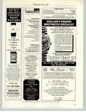 Wrist Watch Store - Searles - Frank Lord - Golden Grace 1991 Print Ad