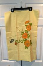 Hanae Mori Zinnias Mums MARTEX Yellow No Iron Standard Pillowcase Floral