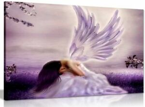 Angel Fantasy Weeping Canvas Wall Art Picture Print