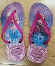 Kids Youth Havaianas flip flops sandals 13C/1Y Disney's Frozen Queen Elsa/Anna