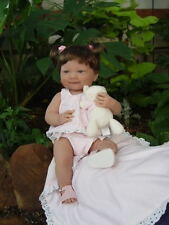 "Retired ~ Berenguer ~ Isabella ~ 14"" Vinyl Baby Girl Doll with Blanket and Kitty"