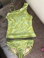 Girls Green Lands End Tankini Age 11-12