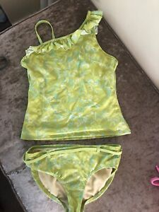 Brand New Sea Horse Printed Tankini Set Age 10-11 years by Land/'s End