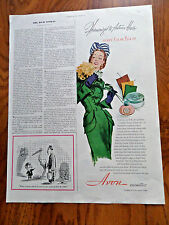 1947 Avon Cosmetics Ad  Harmonized to Autumn Hues Avon's Color Pick-up