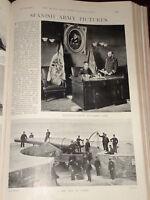 1898 Español Ejército Grande Pistola Cadiz Leon Regimiento Tetuan
