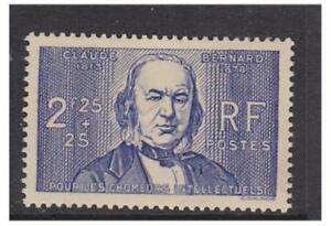 France - 1939, 2f25 + 25c Claude Bernard stamp - M/M - SG 648