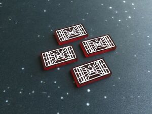 X-wing 2.0 compatible, acrylic S.O.T lock tokens - translucent series