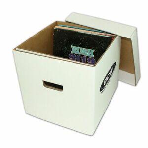 12 Inch Vinyl Album or Single (33RPM) Record Storage Box, Cardboard