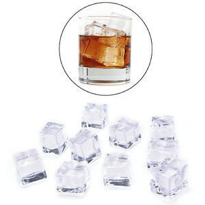 10PCS/Pack Fake Artificial Acrylic Ice Cubes Crystal Clear 2/2.5/3cm SquareRC*ss