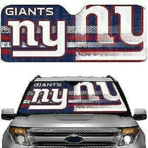 NEW YORK GIANTS UNIVERSAL AUTO SUNSHADE AND LICENSE PLATE FRAME GIFT PACKAGE