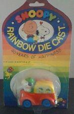 Vintage Peanuts Snoopy Rainbow Diecast Metal Scout Van New On Card